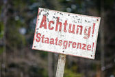 Achtung Staatsgrenze — Stock Photo
