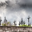 Stockfoto: Dark Clouds over Graveyard