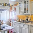 Foto Stock: White Kitchen in Country Style