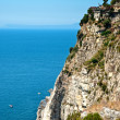Stock Photo: Cliff on Amalfi Coastline
