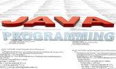 Programación en java — Foto de Stock