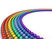 Rainbow Spheres — Stock Photo