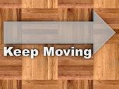 Blijven bewegen — Stockfoto