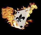 Burning Card — Stock Photo