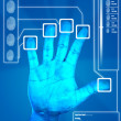 Stock Photo: Fingerprint Scan