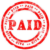 Paid Stamp — Stock Photo
