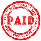 Paid Stamp — Stock Photo