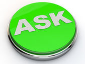 Button Ask — Stock Photo