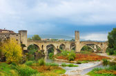 Medieval bridge of Besalu, Catalonia. Spain — Stock Photo