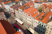 Market square in old town of Torun, Poland — Stock Photo