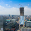 Skyline of modern  Warsaw, Poland — Stock Photo