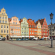 Old houses on plac Solny, Wroclaw — Stock Photo