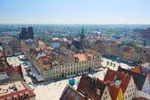 Piazza della città vecchia con il municipio, wroclaw — Foto Stock