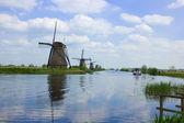 Mulini a vento olandesi — Foto Stock