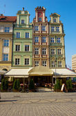 Market square in old town of Wroclaw — Stock Photo