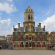 Stock Photo: Town hall, Delft, Holland