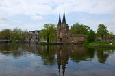 Classic view on old Delft, Netherlands — Stock Photo