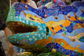 Masaic lizard by Antonio Gaudi — Stock Photo