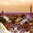 Park Guell at sunset, Barcelona, Spain — Stock Photo