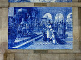 Traditional ceramic tiles of Porto, Portugal — Stock Photo