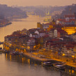 Porto at sunset, Portugal - Stockfoto