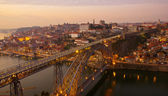 Porto at sunset, Portugal — Stock Photo