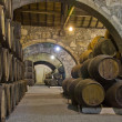 Cellar with wine barrels — Stock Photo #8882953