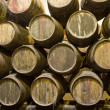 Cellar with wine barrels — Stock Photo