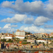 Town of Porto over roofs of wine cellars Portugal — Stock Photo
