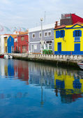 Channels and boats of Aveiro, Portugal — Stock Photo