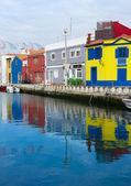 Canales y barcos de aveiro, portugal — Foto de Stock