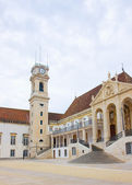 Yard of old university in Coimbra, Portugal — 图库照片