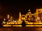 Plaza de la Cibeles (square of Cibela) — Stock Photo