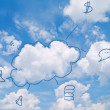 Cloud computing concept — Stock Photo #9108170