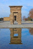 Entrance in temple Debod, Madrid, Spain — Stock Photo