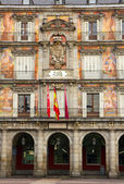 Facade of old building, Madrid, Spain — Stock Photo