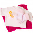Pink baby clothes - Stock Photo