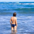 Boy enjoying the sea — Stock Photo