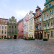 Market square of Poznan, Poland - Stock Photo