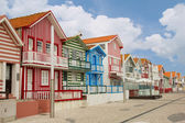 Costa Nova, Aveiro, Portugal — Stock Photo