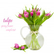 Foto Stock: Purple tulips bouquet