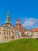 Roal castle at Wawel hill, Krakow, Poland — Stock Photo