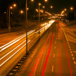 Night city traffic — Stock Photo