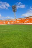 Fotbalové hřiště s lampou — Stock fotografie