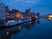 Night at old Gdansk, Poland — Stock Photo