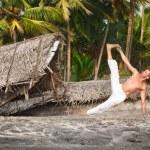 Yoga vasisthasana side plank pose — Stock Photo #10329802