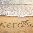 Kerala on the beach — Stock Photo