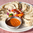 Vegetarian Nepalese momo — Stock Photo