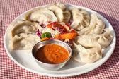 Vegetarian Nepalese momo — Stock Photo