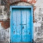 Vintage blue door — Stock Photo #10498984